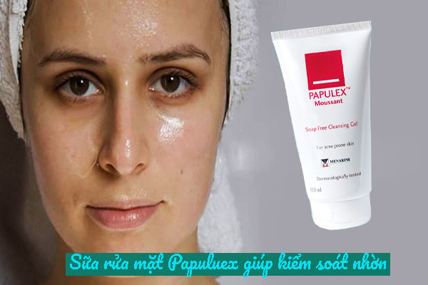Thành phần sửa rữa mặt Papulex