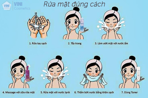 Rửa mặt đúng cách có thể giúp làn da bạn mịn màng và đỡ lão hoá chậm hơn