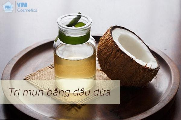 Dầu dừa cũng có thể dùng cho làn da mụn
