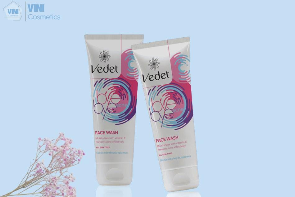 Sữa rửa mặt Vedette Bye Bye Acne Facial Wash