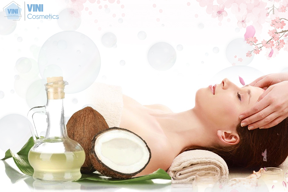 Dầu dừa được sử dụng để massage da mặt