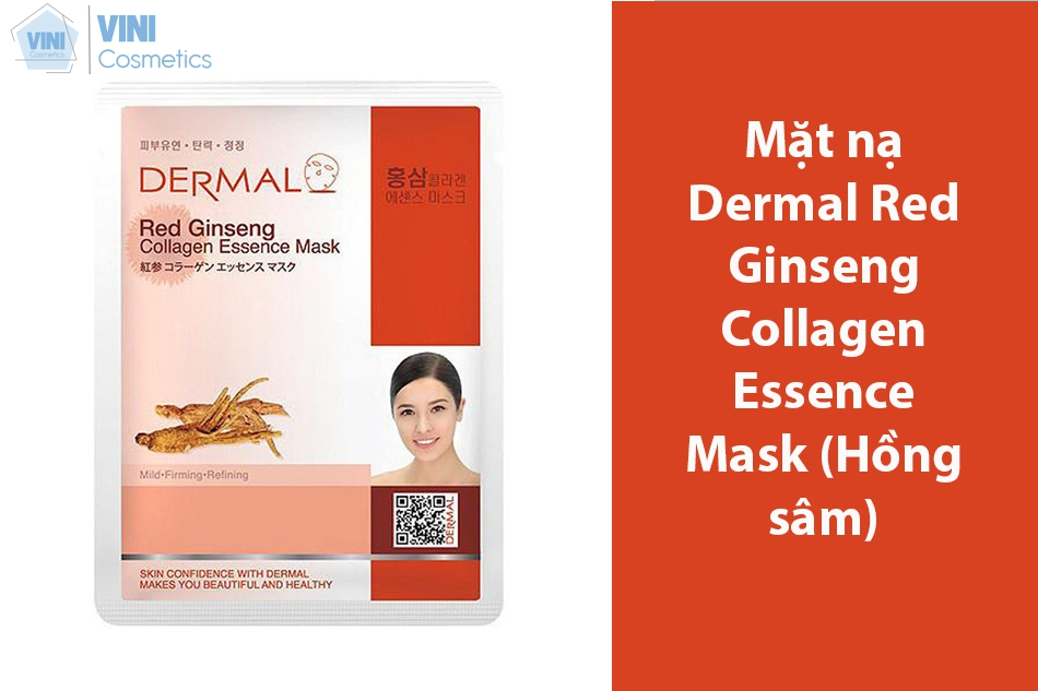 Mặt nạ Dermal Red Ginseng Collagen Essence Mask (Hồng sâm)