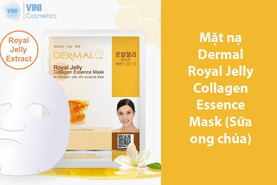 Mặt nạ Dermal Royal Jelly Collagen Essence Mask (Sữa ong chúa)