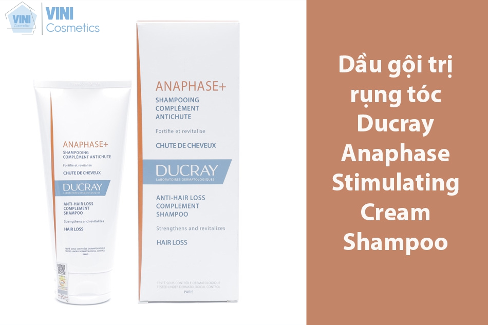 Dầu gội trị rụng tóc Ducray Anaphase Stimulating Cream Shampoo