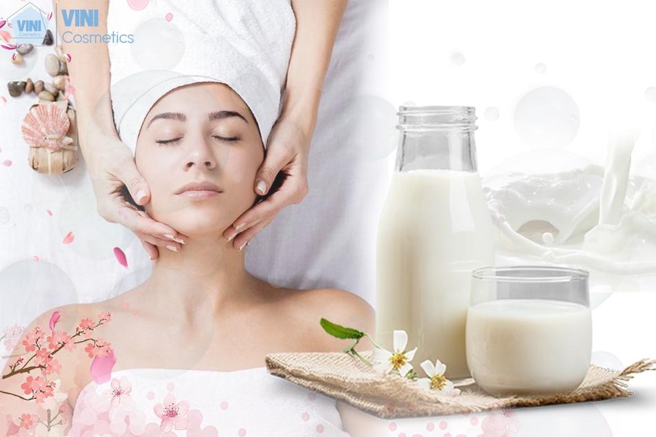 Sữa tươi rất có lợi cho da mặt