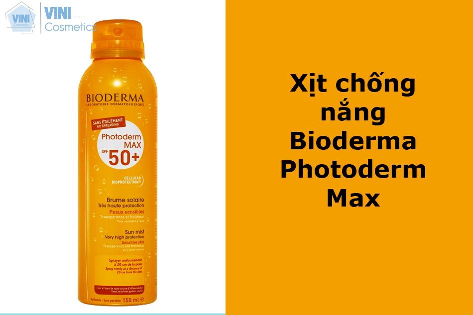 Xịt chống nắng Bioderma Photoderm Max
