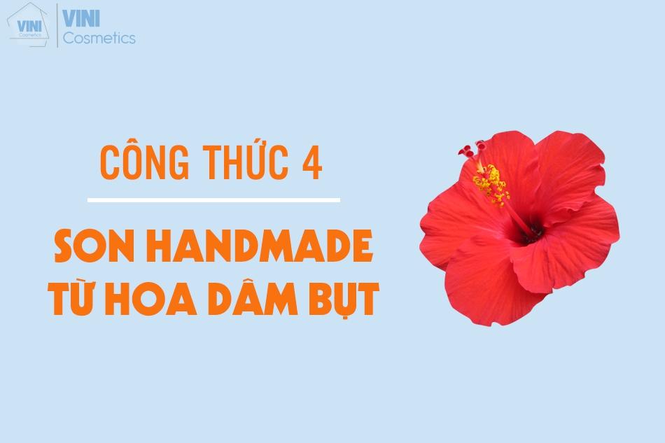 son handmade từ hoa dâm bụt