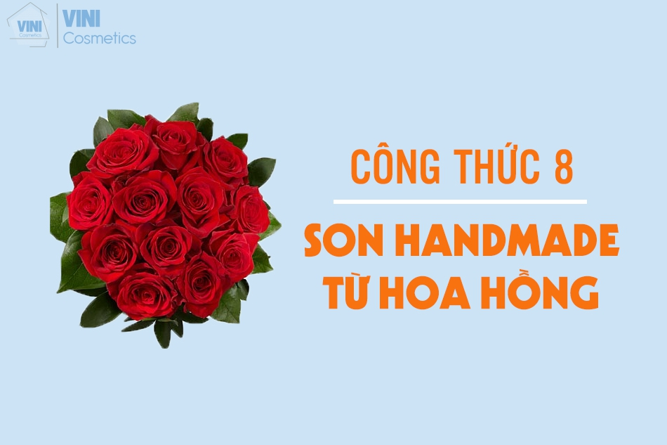 son handmade từ hoa hồng