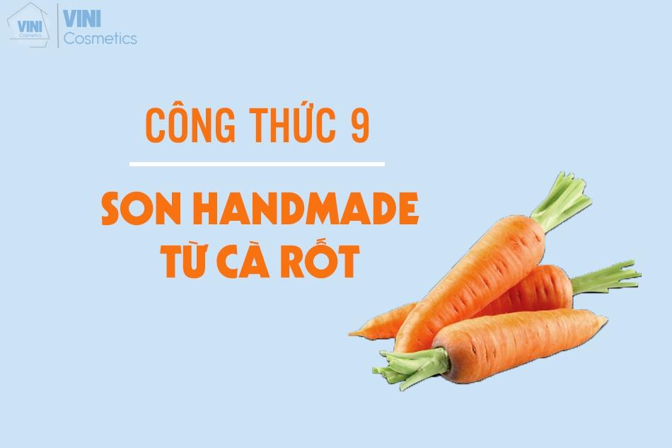son handmade từ củ cà rốt