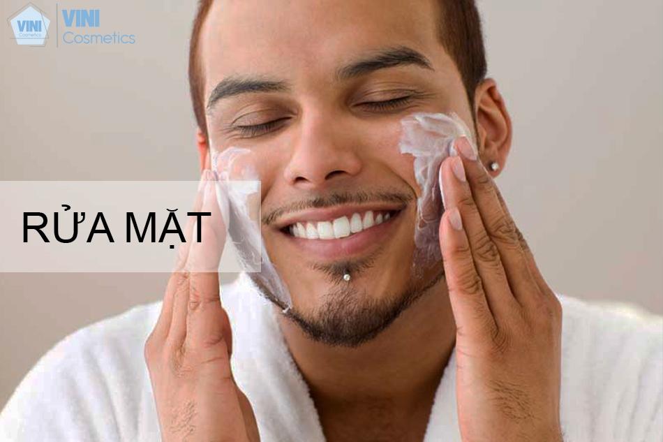 Các bước chăm sóc da mặt cho nam giới