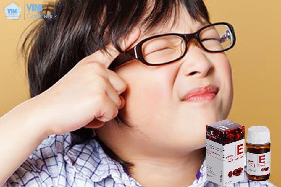 Thiếu vitamin E gây ảnh hưởng đến thị lực