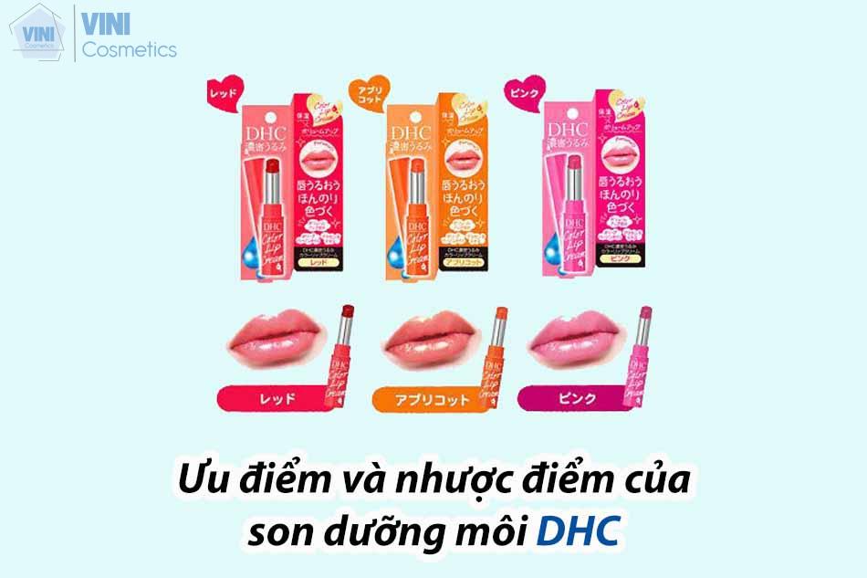 Ưu điểm và nhược điểm của son dưỡng DHC