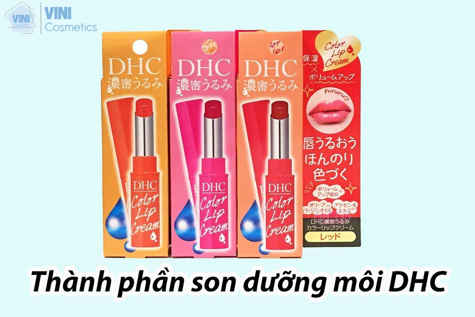 Thành phần son dưỡng môi DHC lip cream 1,5g