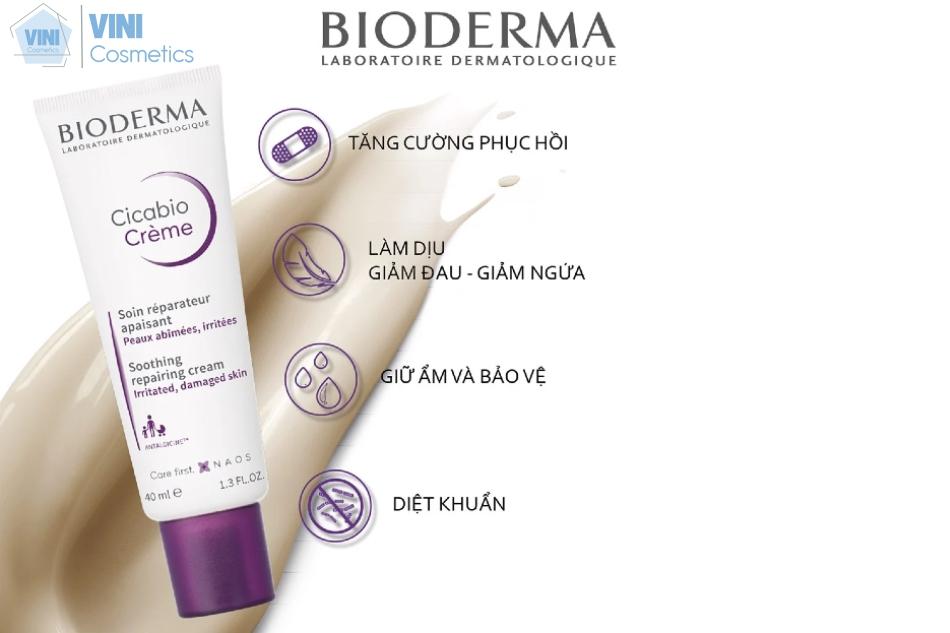 Kem phục hồi da Bioderma đạt được hiệu quả đến hơn 95% khả năng làm dịu mát.