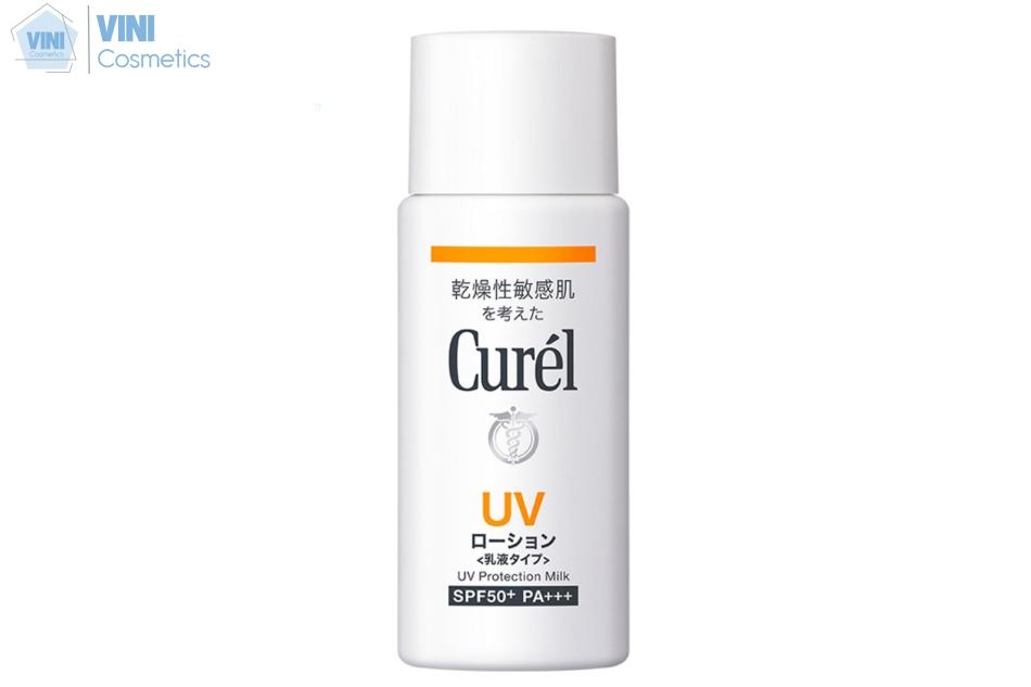 Dòng kem chống nắng Curel UV Protection Milk SPF50 với texture dạng sữa